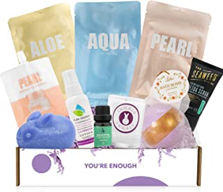 Cruelty-Free Mother's Day Bath Body & Spa Gifts Box - Bath Bomb, Shea Butter Tin, Bunny Soap, Bath Scented Candles and More - Great Gift for Her