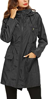 Romanstii Raincoat Outdoor Women's Lightweight Jackets Waterproof Packable Active Outdoor Rain Jacket