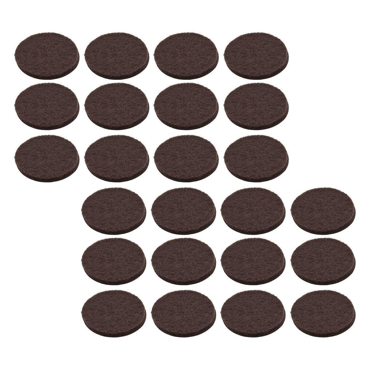 Stanley S845-299 1/2 Inch Round Medium Duty Self Adhesive Brown Felt Pads Pack of 24