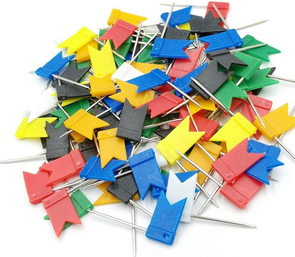 100PCS Map Flag Bargain Popular popular Push Newlan Pins Colorful Tacks