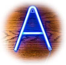 ZOLED Blue Neon Letter Lights   PVC LED Neon Light Signs Available in A Through Z   Bright Sturdy Custom Neon Lights   Decor for Home, Events, Bars, Marquees, Weddings   Neon Signs by ZOLED (Letter A)