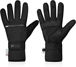 Aegend Touch Screen Warm Cycling Gloves with Zipper Pockets, Winter Sports Gloves with Thermal Thinsulate, Water Resistant...