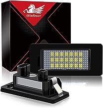 WinPower LED Luces de matrícula para coche Lámpara Numero plato luces Bulbos 3582 SMD con CanBus No hay error 6000K Xenón Blanco frio para E39 E46 E60 E90 E91 E92 E93 F10 ect, 2 Piezas