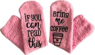 Wine Socks With Gift Packaging If You Can Read This Bring Me Some Wine Novelty Socks Funny Gifts for Mom/Hostess/Wine Lovers/Wife Unique Joke Women Gift for Birthday, Christmas (Coffee Socks)