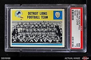 1964 Philadelphia # 69 Lions Team Detroit Lions (Football Card) PSA 7 - NM Lions