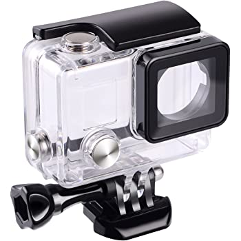 Three Filter Waterproof Case Underwater Float Stick Compatible with Hero 5 Hero 6 Hero 7 Black Diving Accessories Suit Protector Taisioner Water Sport Kit of Handbag