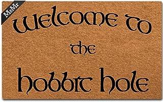 MsMr Doormat Entrance Floor Mat Welcome to The Hobbit Hole Mat Indoor Decorative Home and Office Door Mat 23.6 by 15.7 Inch
