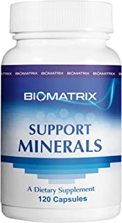 Support Minerals (120 Capsules) - Macro and Trace Minerals Supplement with Boron, Calcium, Magnesium, Zinc, Iodine, Copper, Selenium, Chromium, Potassium, Kreb Cycle Carriers Increase BioAvailability