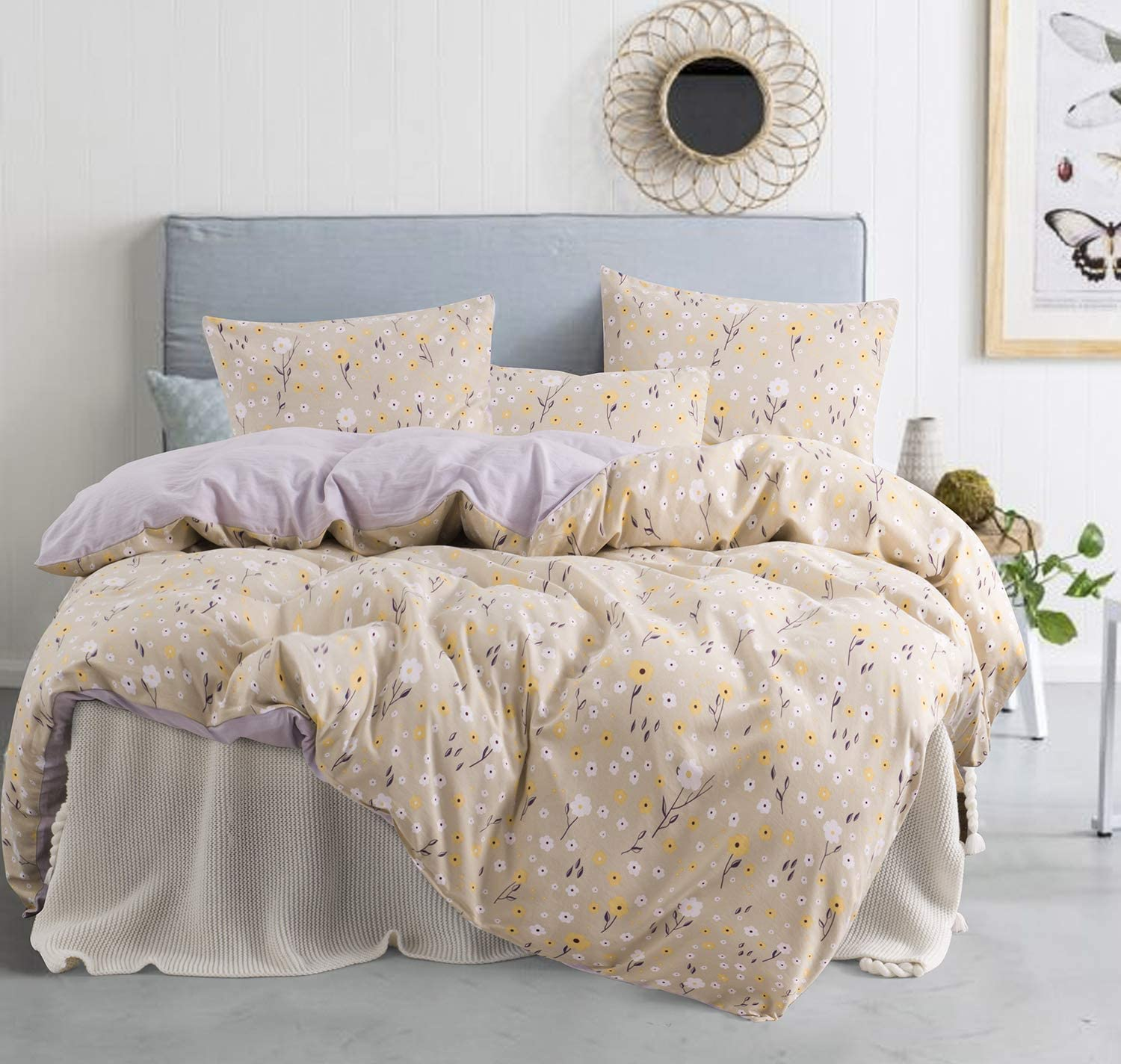 jieshiling King 5 ☆ very popular Duvet Cover Soft Set All items free shipping Cute Bedding Lightwei with