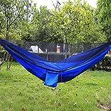 AZX Hamaca con Mosquitera para Camping, Nylón Carga máxima de 300 kg, 290 * 140 CM con Correas,Nylon Paracaídas Secado Rápido (Estilo C)