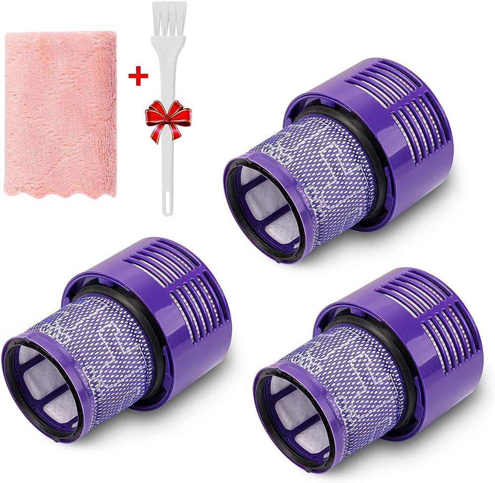 morpilot filtro di ricambio per dyson v10, confezione da 3, filtro lavabile 10221304