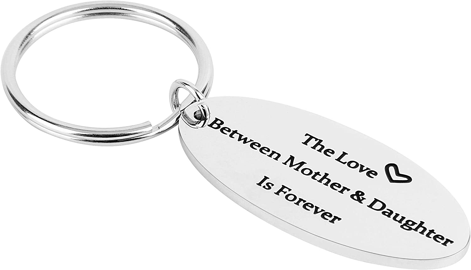 Stainless Steel Keychain Pendant, The Love Between Mother & Daughter Is Forever,for Christmas Mother's Day Birthday Gifts