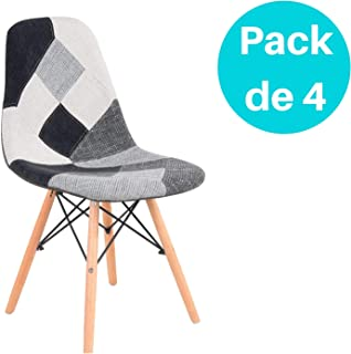 Woopi Lote 4 sillas Patchwork