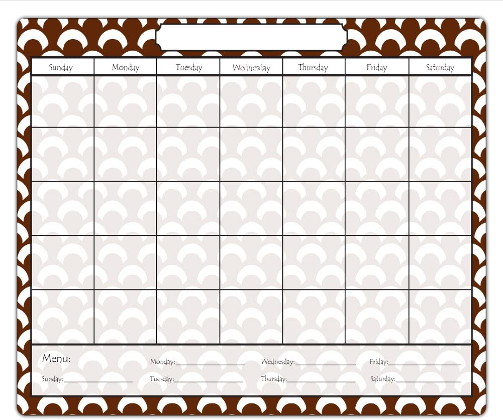 Discount mail order Scallops Magnetic Dry Erase Calendar Chocolate with Menu Over item handling ☆