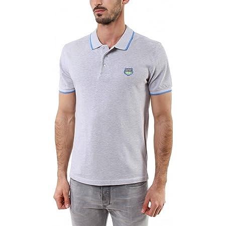 Kenzo Tiger's Head Cotton Piqué Polo Shirt - Grey - Medium