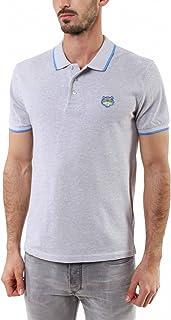 Kenzo Tiger's Head Cotton Piqué Polo Shirt - Grey - Small