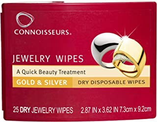 Connoisseurs 1051 Jewelry Wipes Jewely Cleaner, Silver