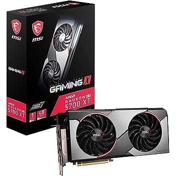 MSI Gaming Radeon Rx 5700 Xt 256-bit 8GB GDDR6 HDMI/DP Dual Fans Crossfire Freesync Navi Architecture Graphics Card (RX 5700 Xt Gaming X)
