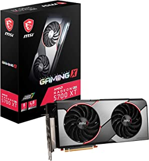 MSI Gaming Radeon Rx 5700 Xt 256-bit 8GB GDDR6 HDMI/DP Dual Fans Crossfire Freesync Navi Architecture Graphics Card (RX 57...