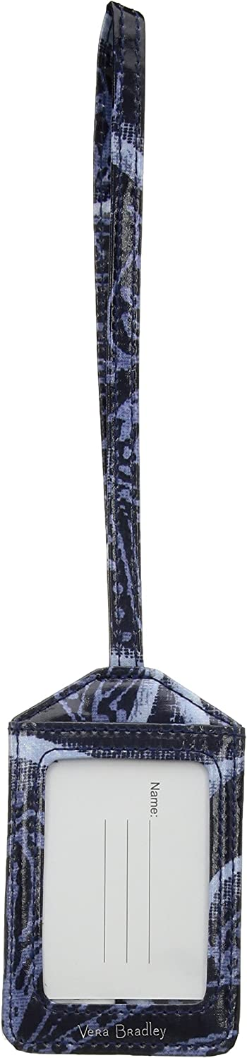 Vera Bradley Women's Chicago Mall Signature Large-scale sale Cotton Indio Luggage One ID Tag