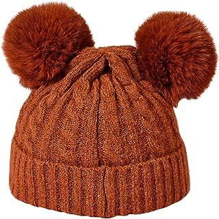 Pompom Ear Covers Beanies Warm Earflap Cap Boys Girls FGSS Kids Earflaps Winter-Knit-Beanie Hat