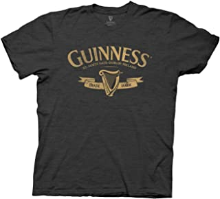 St Paddy`s Day Guinness Yellow Logo Mens T-Shirt