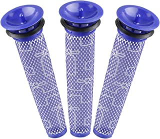 Aunifun 3 Pack Pre Filter Replacements for Dyson DC58 DC59 V6 V7 V8 Cordless Vacuum Cleaners, 3 Washable Filters Replace Part # 965661-01
