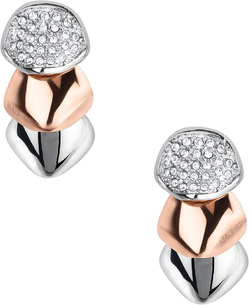 Breil orecchini donna collezione amazzone in acciaio TJ2161