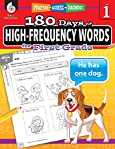180 Days of High-Frequency Words for First Grade – Learn to Read First Grade Workbook – Improves Sight Words Recognition and Reading Comprehension for Grade 1, Ages 5 to 7 (180 Days of Practice) PDF