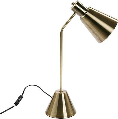 Versa Lampe de Table Flexo Cone, métal, doré, 53,5 x 15 x 30 cm