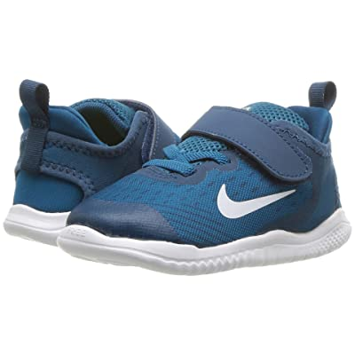 Nike Kids Free RN 2018 (Infant/Toddler) (Blue Force/White/Green Abyss/Volt) Boys Shoes