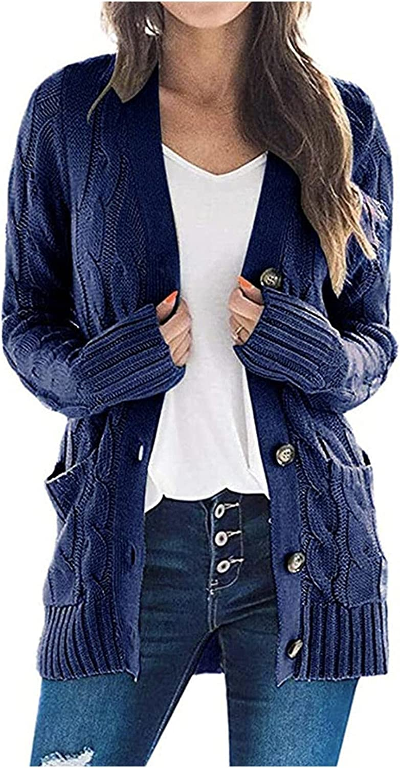 Sweaters for Women,Cardigans Plus Size Cardigan Sweaters Open Front Chunky Knit Cardigan Lightweight Long Duster Cardigan