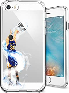 iPhone 5/5s/SE Case, Chrry Cases Ultra Slim [Crystal Clear] [Hardwood Series] Soft Transparent TPU Case Cover for Apple iPhone 5/5s/SE - Splash Curry
