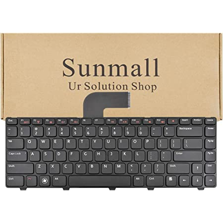 Amazon Com Sunmall Keyboard Replacement With Black Frame Compatible With Dell Vostro 1540 1550 2520 3330 3350 3450 3460 3550 3555 3560 1440 1445 1450 1550 Xps L502x Computers Accessories