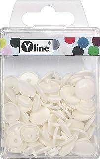 KAM Snaps 3101 - Botones de presión (25 unidades, plástico, 12,4 mm), color blanco