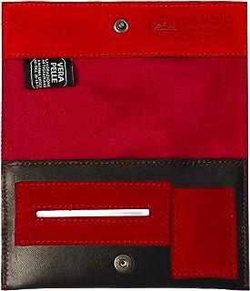 Pellein - Portatabacco in vera pelle Flaming - Astuccio porta tabacco, porta filtri, porta cartine e porta accendino. Hand...