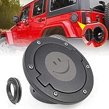 JeCar Gas Cap Cover Aluminum Gas Tank Cap for Jeep Wrangler 2007-2018 JK Unlimited Sport Rubicon Sahara 2/4 Doors