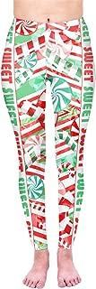 Kukubird Christmas Winter Snowflake Santa Stocking-Filler Yoga Leggings Fitness Pilates Stretchable