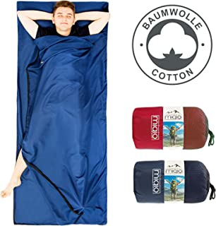 comprar comparacion MIQIO 2 en 1 forro de algodón para saco de dormir y ligero tamaño XL para cama doble de viaje