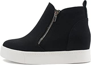 Taylor Hidden Wedge Booties Fashion Sneaker Shoes Side...