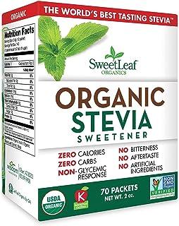 SweetLeaf Organic Stevia Sweetener, 70 Count