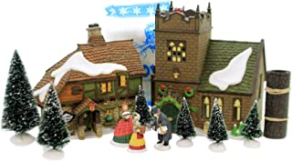 Department 56 Dickens' Village Start A Tradition Set of 13 Sudbury Church, Old East Rectory, Spirit of Giving 58322