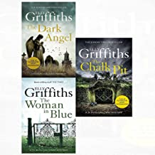 Dr ruth galloway mysteries dark angel, woman in blue, chalk pit 3 books collection set