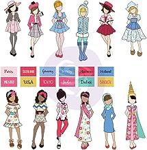Julie Nutting Traveling Girl Ephemera Cardstock Die-cuts 24p-dolls & Labels