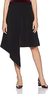 VERO MODA Women's Asymmetric Knee-Long Skirt