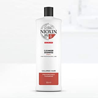 Nioxin System 4 Cleanser Shampoo for Coloured Hair with Progressed Thinning, 1L