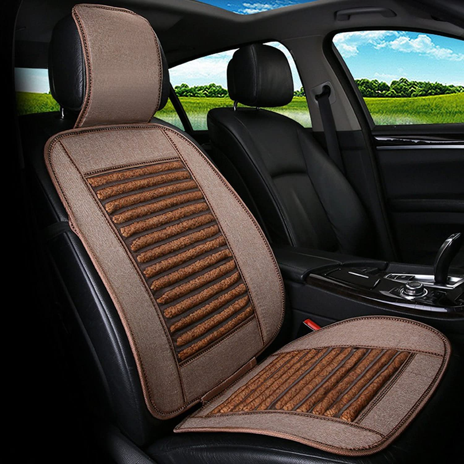 Massage Car Seat Handmade Wooden Beads Or Hawthorn Seed Cool Pads Single Ventilation,C