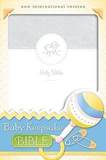 NIV, Baby Keepsake Bible, Leathersoft, White