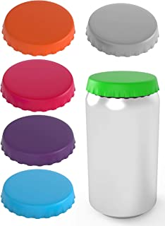 Silicone Soda Can Lids 6 pack – Shield your coke, beer, and pop cans from flies, bees, and dust! – Spill saver - lid fits standard coke cans - Perfect for the beach, golf, camping, fishing