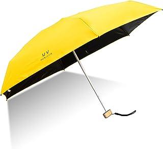 Mini Taschenschirm ShengXuan Leicht Regenschirm Winddicht Regenschirm UV-Schutz von 95% Visier Regenschirm Robust Kompakt und Portable Leichtk Kompakt Reiseschirm,Frauen MädchenIhr Intimpartner(Gelb)
